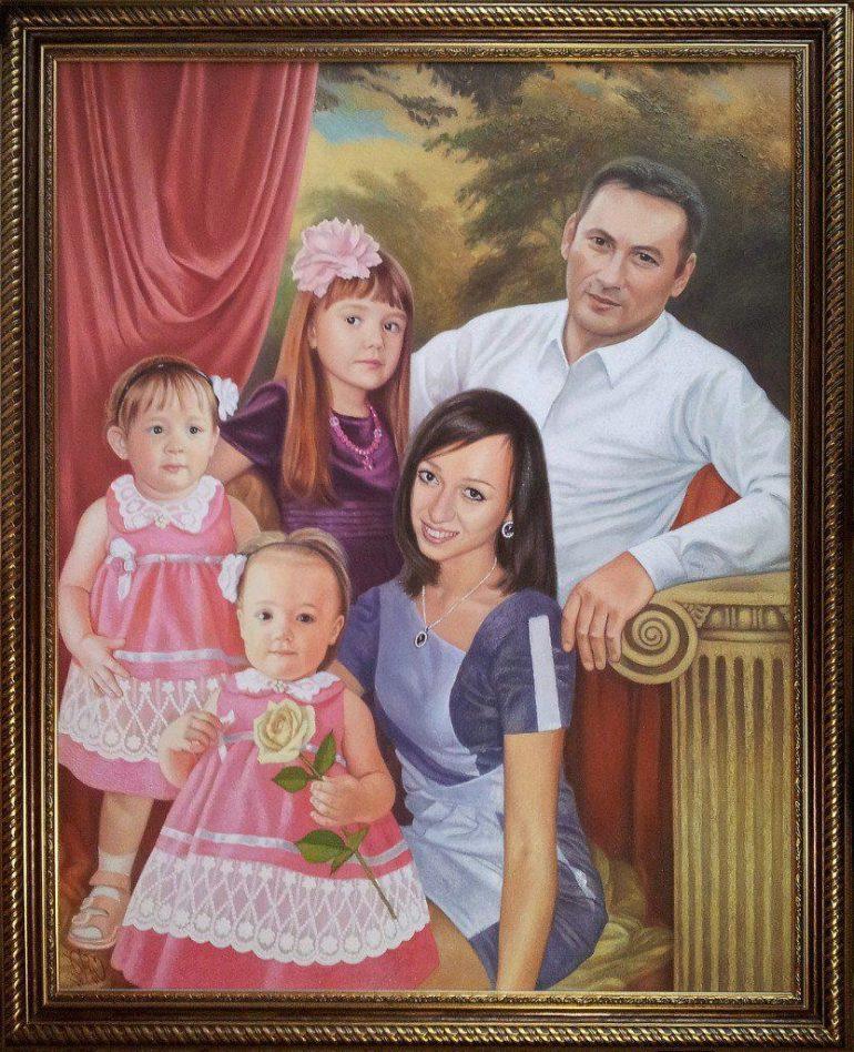 Семейный портрет маслом в Ульяновске — правильная традиция…