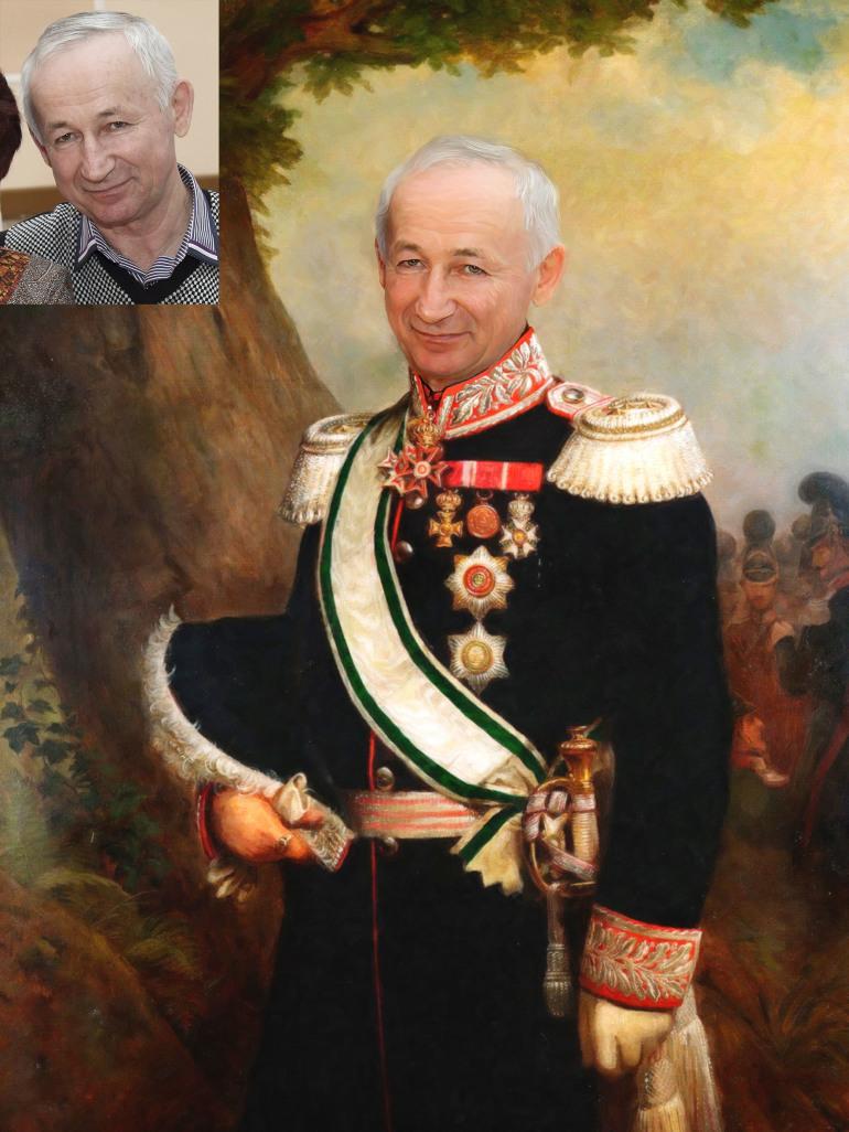 Где заказать исторический портрет по фото на холсте в Ульяновске?