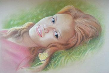 Настоящий портрет пастелью для любимой девушки в Ульяновске, просто и со вкусом!