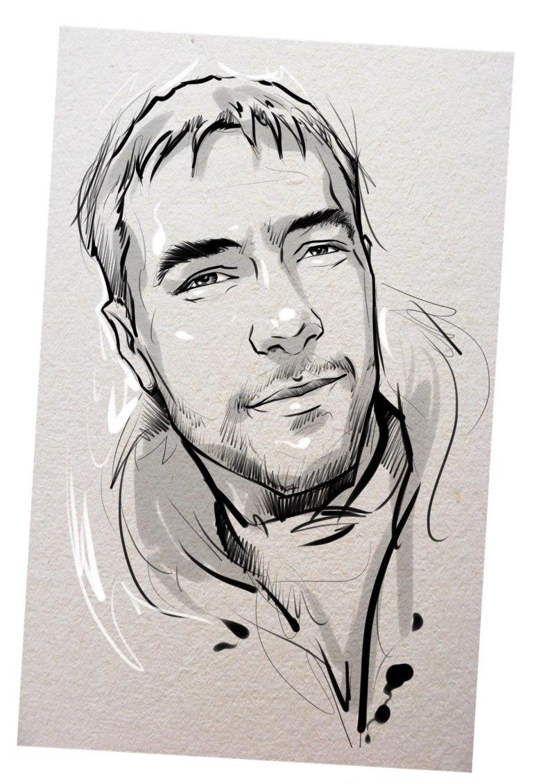 Портрет карандашом любимому мужу в Ульяновске…