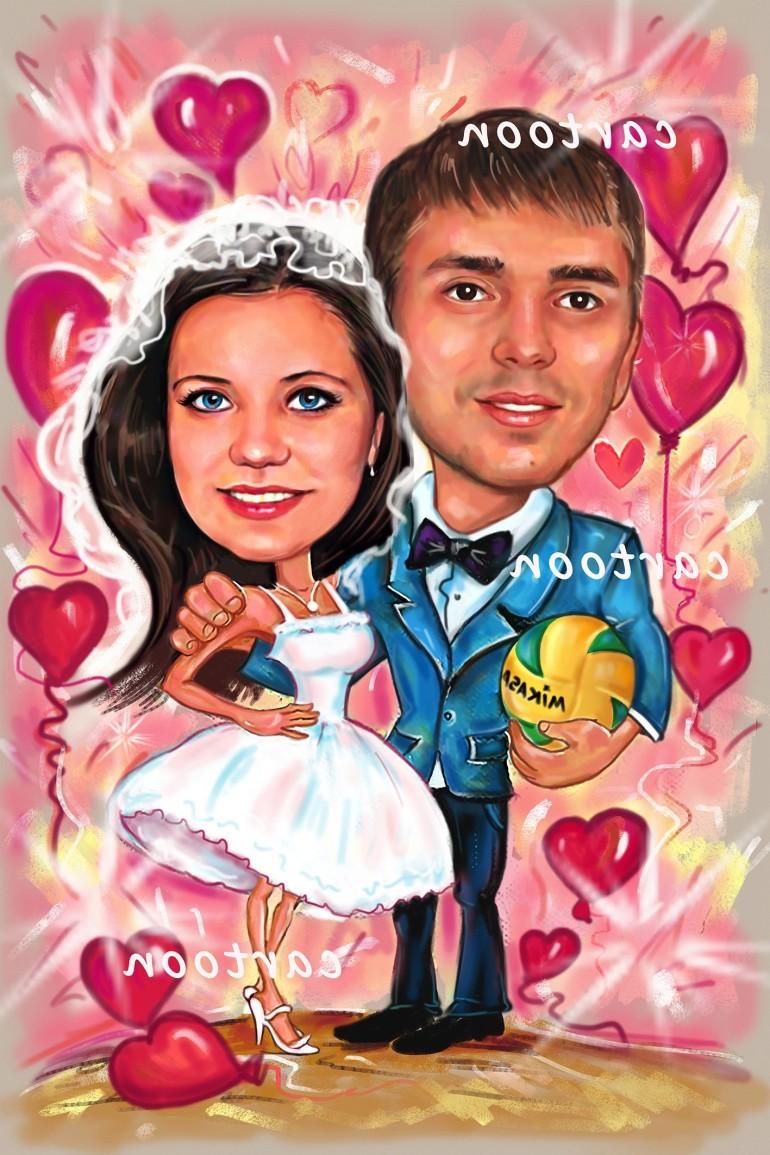 Свадебный шарж с оригинальным сюжетом в Ульяновске!
