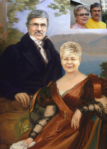 Где заказать портрет по фото на годовщину свадьбы?