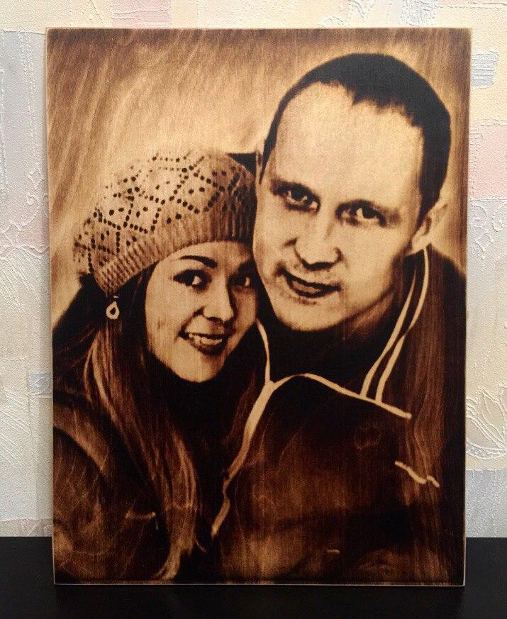 выжигание портретов по дереву на заказ в Ульяновске