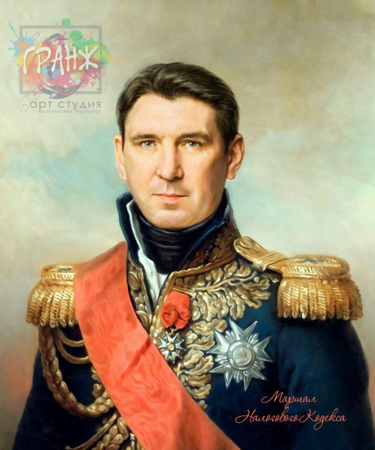 Портрет по фото на холсте в подарок мужчине на 23 февраля Ульяновск