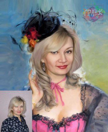 Заказать арт портрет по фото на холсте в Ульяновске