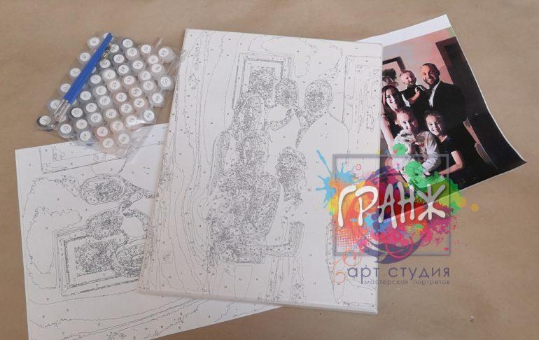 Картина по номерам по фото, портреты на холсте и дереве в Ульяновске