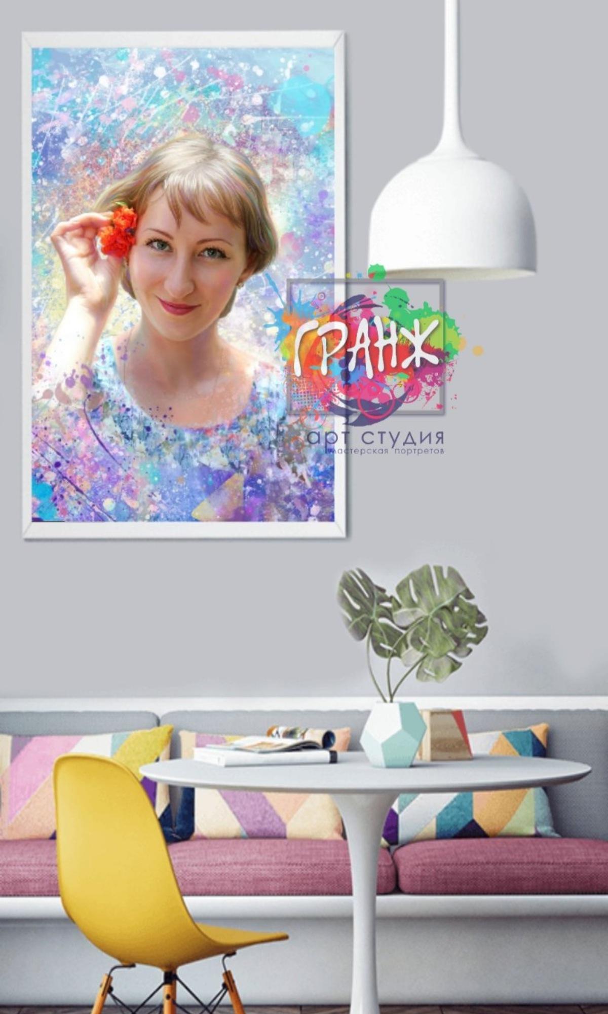 арт портрет на холсте